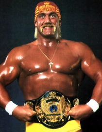 Hogan Points To The Belt