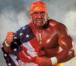 Hulk Hogan Holds The American Flag
