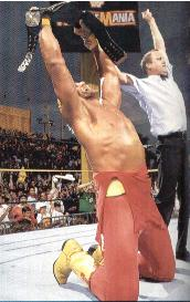 Hulk Hogan Holds The Belt In Amazement