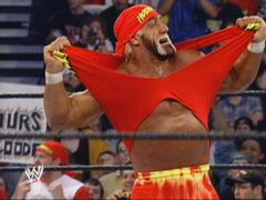 Hulk Hogan Tears Off The Red And Yellow