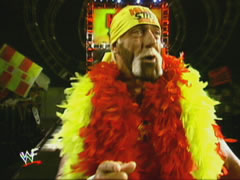 Hogan Wears The Red And Yellow Boa