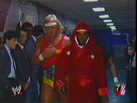 Hogan Comes Out With Mr. T