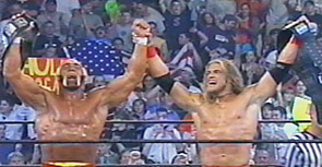 Hogan And Edge Celebrate