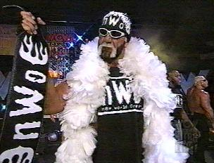 Hogan Carrying The Belt And Sporting The Boas