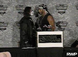 Hogan And Sting At Press Conference