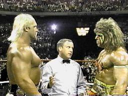 Hogan Stares At The Ultimate Warrior