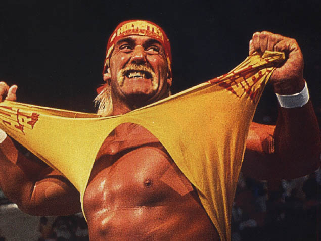 Hulk Hogan Tears His Shirt Off