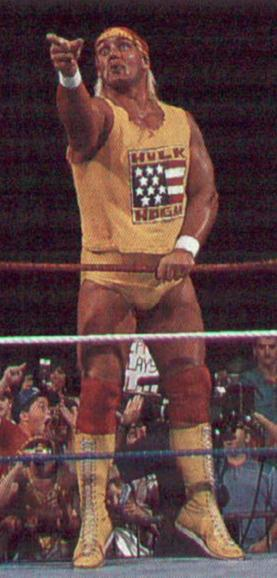 Hogan Points Across The Ring