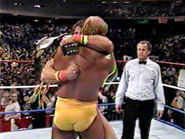 Hulk Hugs The Warrior After A Great Match