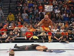 Hogan Goes For The Leg Drop On The Undertaker