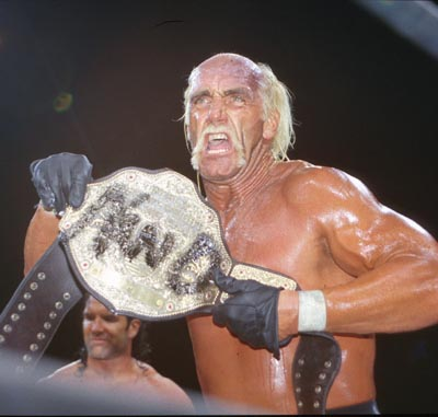 Hogan Shows Off The NWO Belt