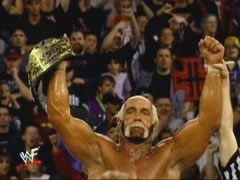 Hogan's Hand Is Raised After Beating Triple H